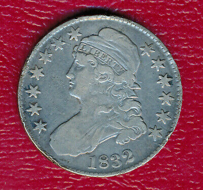 1832 Capped Bust Silver Half Dollar **nice Circulated Early Half** Feee Ship!!