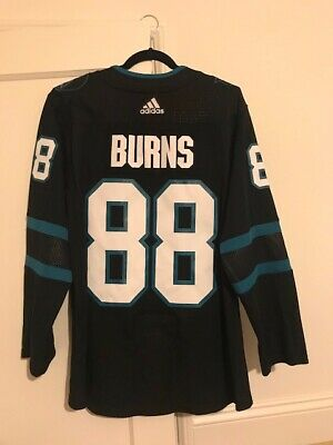 separation shoes 15659 23ae9 NHL Adidas Authentic San Jose Sharks Brent Burns Size 46 Jersey