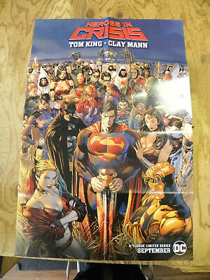 "DC 2018 Tom King Clay Mann HEROES IN CRISIS 24"" by 36"" folded poster"