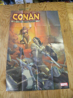 """Marvel 2018 Esad Ribic CONAN THE BARBARIAN #1 24"""" by 36"""" folded poster"""