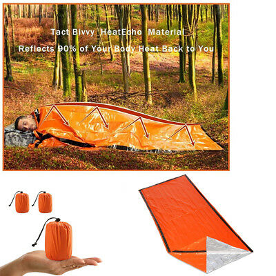 Camping Thermal Sleeping Bag Emergency Survival Hiking Blanket Gear Kit Outdoor