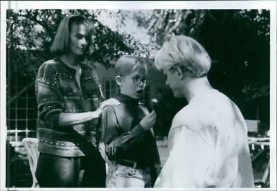 "A scene from the film ""The Pagemaster"", with Mel Harris as Claire Tyler, Macaula"