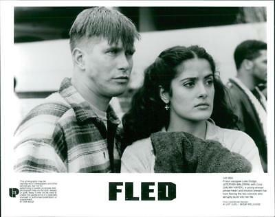 A scene from the film Fled. - Vintage photo