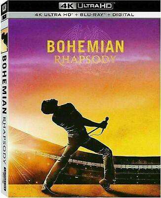 Bohemian Rhapsody (2019 4K Ultra Hd + Blu-Ray + Digital) New Sealed W/ Slipcover