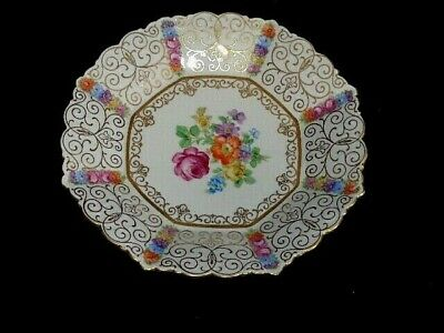 Schumann Bavaria Germany Dresden Flowers Scalloped Plate