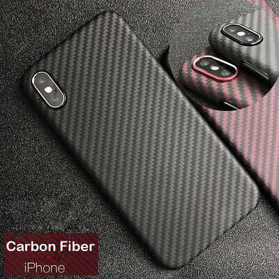 size 40 c8cab 90620 REAL CARBON FIBER Case Cover Ultra Thin Carbon Fibre Cover For iPhone X XS