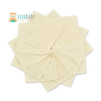 1 ALVA 2-Layers Bamboo Wipes For Baby Cleaning Comfortable Reusable Saliva Towel