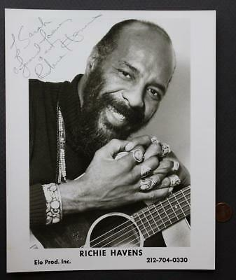 Woodstock Legend Richie Havens signed/autographed VINTAGE ELO Productions photo*