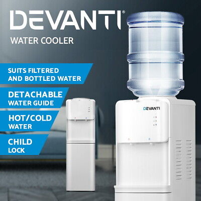 Devanti Water Cooler Dispenser Stand Hot Cold Tap Bottle Filter Purifier Office