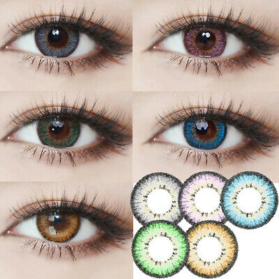 1 Pair Colored Cosmetic Contact Lenses 0 Degree Party Eye Makeup Eyewear Vente