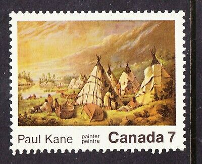 Canada No 553, Paul Kane: Canadian Artist, Native American Encampment,  Mint Nh