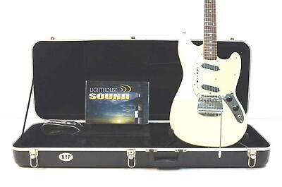 1997 FENDER '69 Reissue Mustang Electric Guitar - White w/Case Crafted on