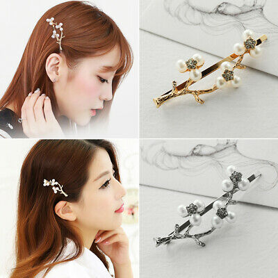 Tree Hair Clips Branch Hairpins Pearls Gold Silver Vintage Hairgrips Barrettes