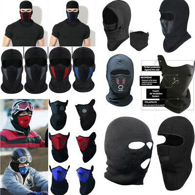 Windproof Ski Motorcycle Cycling Outdoor Balaclava Full Face Mask Neck Scarf Hat