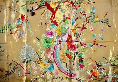 Fine Chinese Embroidery 100 Birds Zen Silk Textil Panel Tapestry