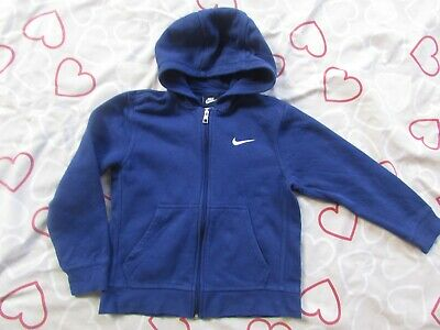 Boys  NIKE size S Royal Blue zip front Hooded Jacket