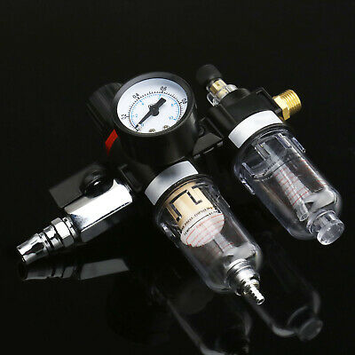 SA Air Compressor Oil Lubricator Water Separator Trap Filter Regulator Gauge Kit