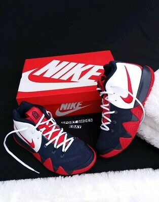 best cheap 171cf f4e90 SIZE 10 MEN'S Nike Kyrie 4 iD Basketball AR3867 994 White red navy SNEAKERS