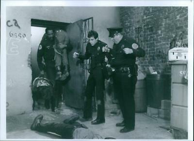"""Scene from the film """"Police Academy 2"""", with Bubba Smith as Officer Moses Highto"""