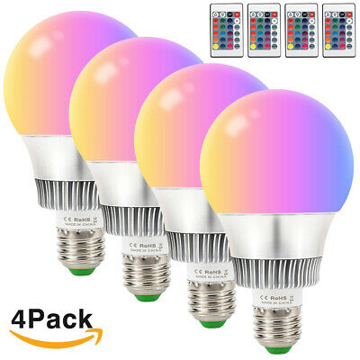 Dimmable RGB E26 10W Color Changing Light Bulb Decor Stage Party Mood Lighting