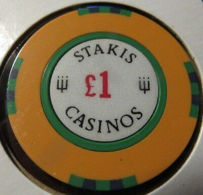 Vintage Stakis Casinos Scotland & England 1 Euro Casino Chip - Poker Blackjack