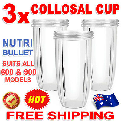 3X NUTRIBULLET COLOSSAL BIG LARGE TALL CUP 32 Oz fits Nutri Bullet 600 & 900W EB