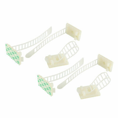 10pcs Adjustable Cable Clips Adhesive Straps Clamps Mount Multi Cables White