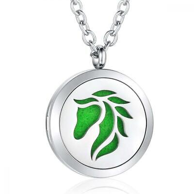 AZORA Aromatherapy Essential Oil Diffuser Necklace Stainless Steel Locket...