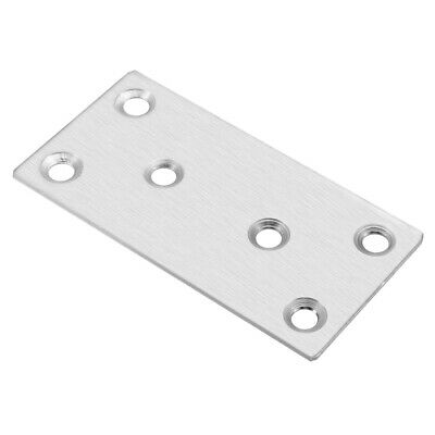 Straight Flat Stainless Steel Brushed 6 Hole Repair Mending Fixing Plate Bracket