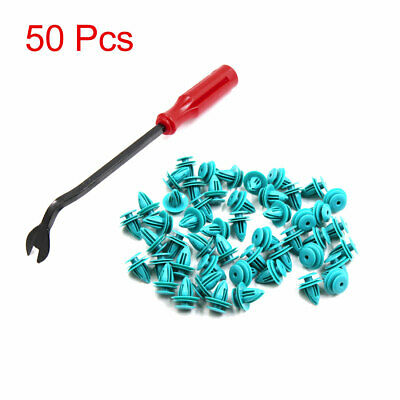 50Pcs Car Trim Panel Retainer Clips with 1 Fastener Remover for Toyota