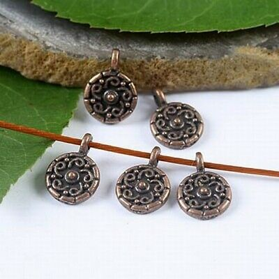 70pcs copper tone studded star charms findings H1904