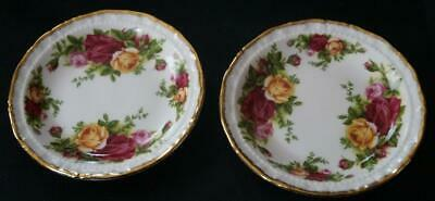 ROYAL ALBERT Old country roses 2 Small Bowls Plates ? NEVER used Mint condition