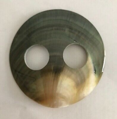 MOTHER OF PEARL SHELL SARONG BUCKLE LARGE 7cm ROUND LOVELY COLOUR NEWStyle 025