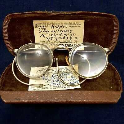 Vintage 1950's Spectacles With Case Antique Glasses
