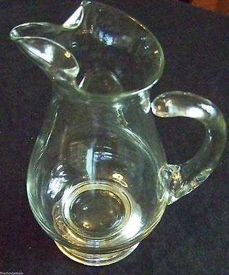CLASSIC MID CENTURY STYLE - STERLING FOOTED MARTINI BEVERAGE PITCHER - 1qt Size