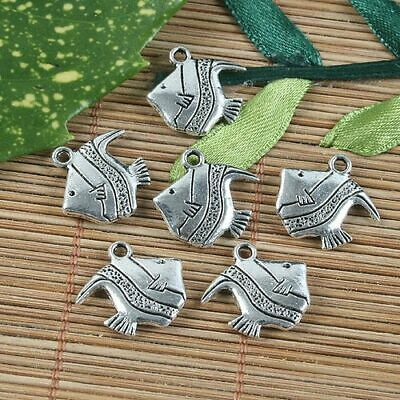 Antique Silver Tibetan Metal TREE FROG Toad Charms Pendant Beads Crafts Cards