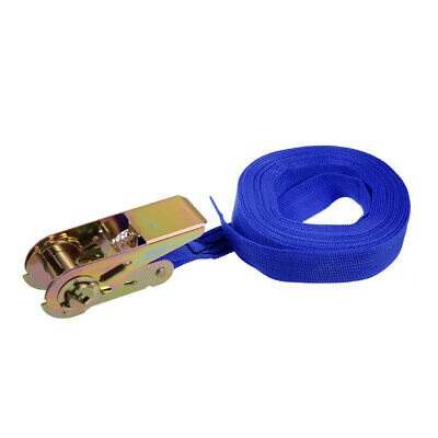 8 Pack 1 in Blue Ratchet Tie Down Motorcycle Strap 1300lbs 1x10 600Kg x 10 ft