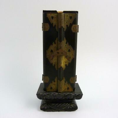 Japanese Lacquer Ware Travelling Zushi Shrine For Prayer Sticks, 19Th Century