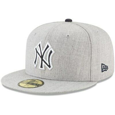 dafacffe3 New York Yankees New Era Heathered Hype 59FIFTY Fitted Hat - Heathered Gray