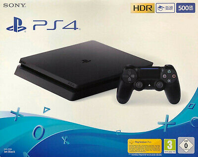 Sony PlayStation 4 Slim - 500GB CUH-2116A Jet Black  NEU + OVP