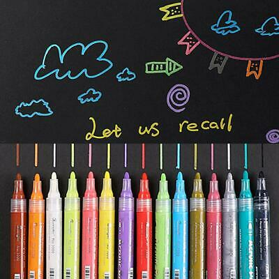 5 Colors Acrylic Paint Markers Permanent Marker Pens For Rock Wood Fabric Glass