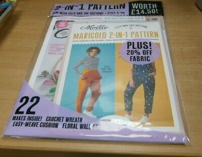 Mollie Makes magazine #104 2019 Paper Piecing made Easy, Bauhaus +2-in-1 Pattern