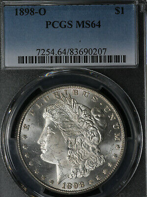 Beautiful Near GEM 1898-O Morgan Silver Dollar - PCGS MS64!