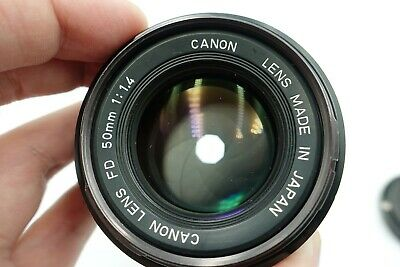 [ Near MINT ] CANON NEW FD 50mm F/1.4 Manual Focus Lens for FD Mount From Japan