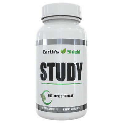 Earth's Shield - Study - 60 Capsules - Nootropic Booster - Focus - Energy
