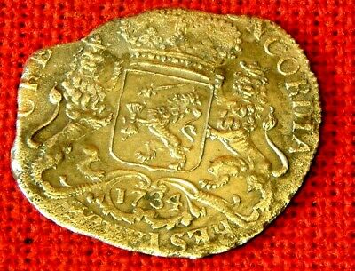 Uncirculated 1734 DUCATON from the T'Vliegenthart (Flying Hart) shipwreck 1735