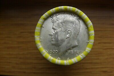 One Unsearched Roll Of Half Dollars 90% Silver End Coin  Silver Ender Half 1964