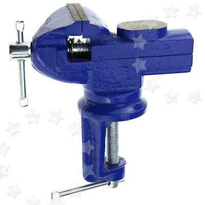 60mm Mini Vice Model Clamp On Swivel Base Steel Vice Workbench Desk