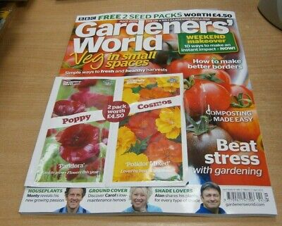 BBC Gardeners' World magazine APR 2019 Veg in Small Spaces, Composting + Seeds