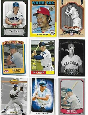 Lot (9) Different Retro RON SANTO Cards Inc Retro Rookie Chicago Cubs
